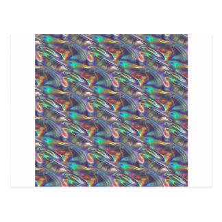 prata holográfica cartão postal