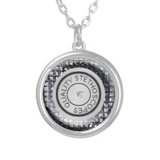 Prata metálica do estetoscópio da qualidade colar