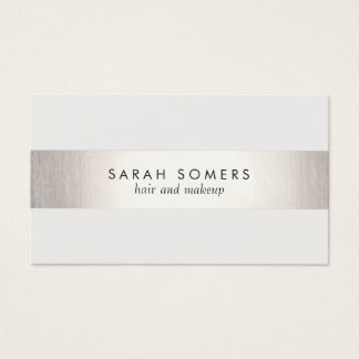 Prata moderna branca à moda elegante do FALSO Cartão De Visitas