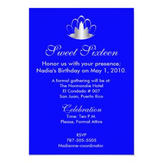 Prata no doce dezesseis dos azuis marinhos - convites personalizados