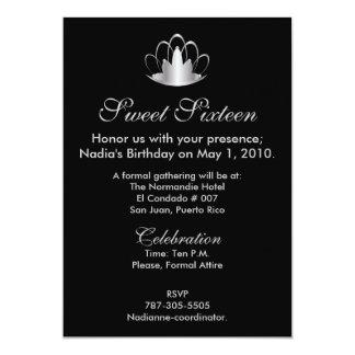 Prata no doce preto dezesseis - personalize convites