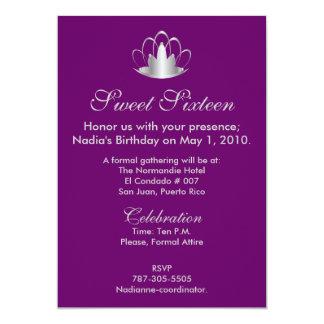 Prata no doce roxo dezesseis - personalize convite