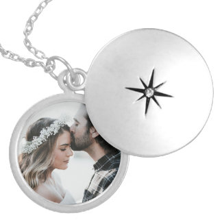 Prata personalizada da colar do encanto da foto