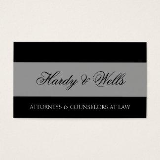 Prata preta/envelhecida da empresa de advocacia cartão de visitas