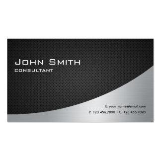 Prata preta lisa moderna elegante profissional cartão de visita