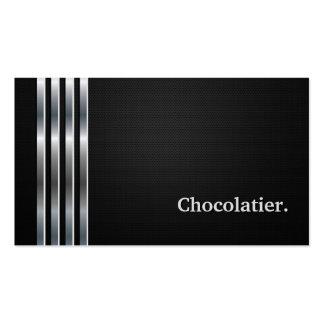 Prata preta profissional de Chocolatier Cartão De Visita