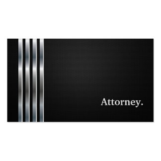 Prata preta profissional do advogado cartões de visita