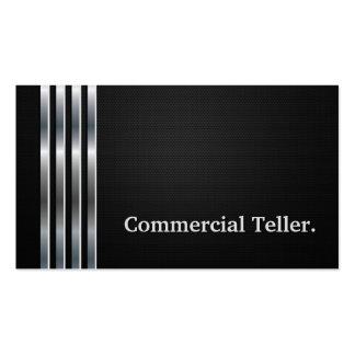 Prata preta profissional do caixa comercial cartão de visita