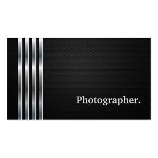 Prata preta profissional do fotógrafo cartão de visita