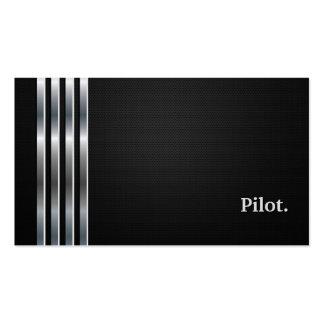 Prata preta profissional piloto cartão de visita