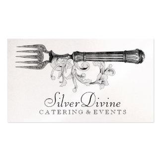 Pratas divina da prata do vintage do GC Modelo Cartoes De Visitas