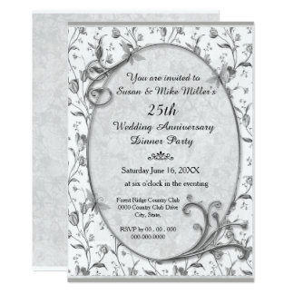 Prateie o 25o convite da festa de aniversário do