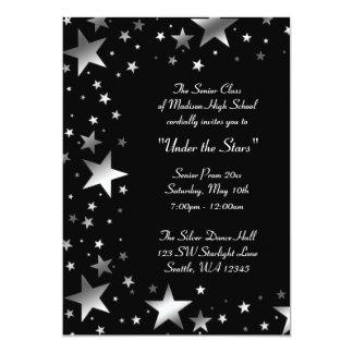 Prateie sob o baile de formatura das estrelas convite 12.7 x 17.78cm