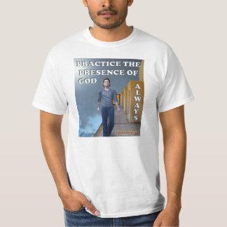 Prática da presença de deus… Sempre T-shirts