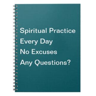Prática espiritual cada caderno do dia