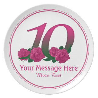 Prato 10o placa personalizada personalizada das flores