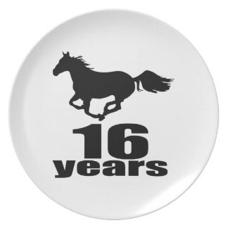 Prato 16 anos de design do aniversário
