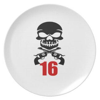 Prato 16 designs do aniversário