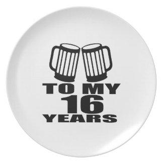 Prato 16 elogios a meu aniversário