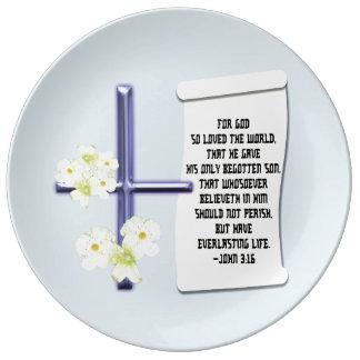 Prato 3:16 transversal de John da flor
