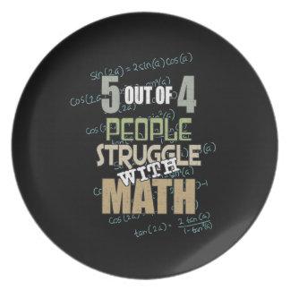 Prato 5 de 4 pessoas do esforço com matemática -