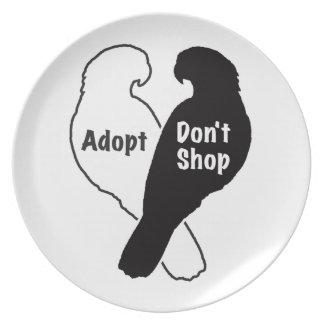 Prato A adopção do salvamento do papagaio não compra