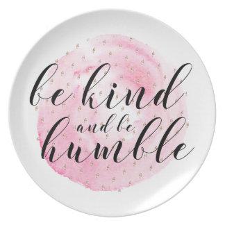 Prato A aguarela seja amável e seja citações humildes
