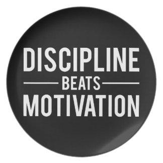 Prato A disciplina bate a motivação - inspirada