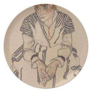 Prato A irmã do artista de Egon Schiele- na lei