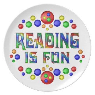 Prato A leitura é divertimento