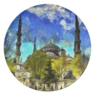 Prato A mesquita azul Istambul Van Gogh