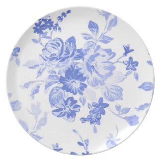 Prato a porcelana branca azul bonito de delft inspirou a