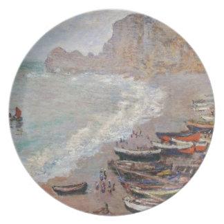 Prato A praia em Etretat - Claude Monet