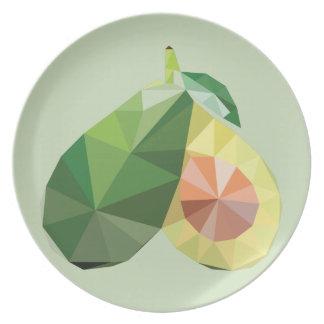 Prato Abacate geométrico