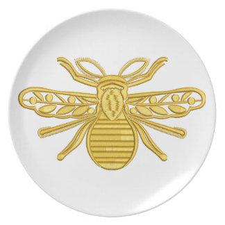 Prato abelha real, imitação do bordado