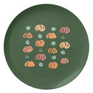 Prato Abóboras com a placa da melamina das folhas