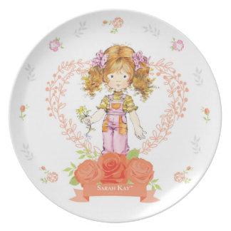 Prato Abricó da placa #2 da porcelana de Sarah Kay Fleur