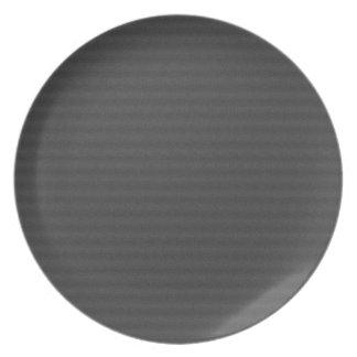 Prato Abstrato alinhado preto