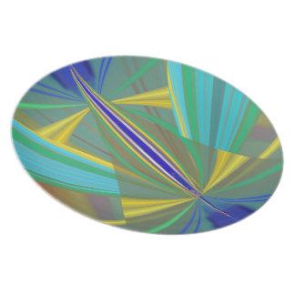 Prato Abstrato da chama azul 2 nos azuis