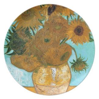 Prato Ainda vida: Girassóis - Vincent van Gogh