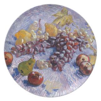 Prato Ainda vida: Maçãs, peras, uvas - Van Gogh