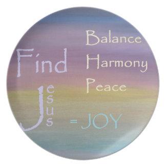Prato ALEGRIA da paz da harmonia do equilíbrio…