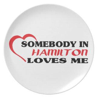 Prato Alguém em Hamilton ama-me