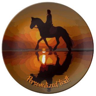 Prato Amante personalizado do cavalo de presente.
