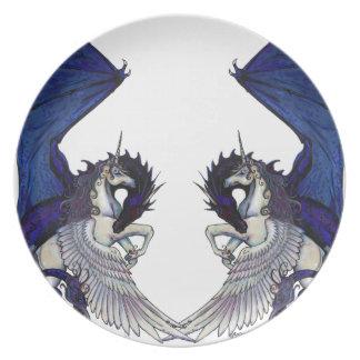 Prato Amantes do unicórnio e do casamento do dragão