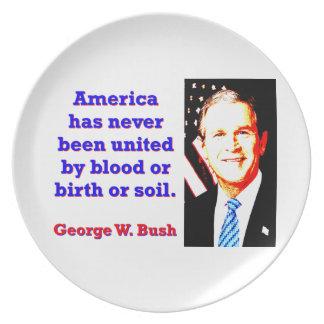 Prato América tem nunca - G W Bush