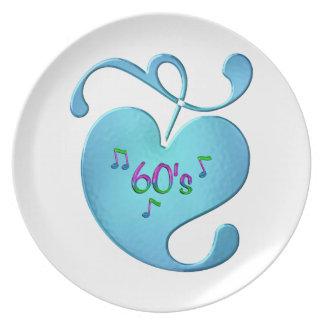 Prato amor da música 60s