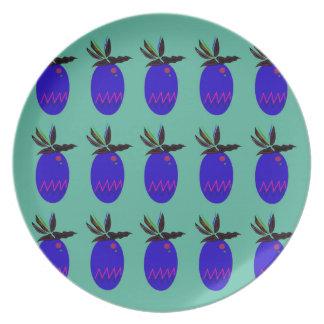 Prato Ananases do design azuis