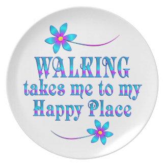 Prato Andando meu lugar feliz