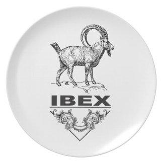 Prato Animal extravagante do íbex